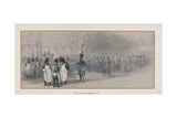 National Guard at the Tuileries, 1846 Giclee Print by John Gilbert