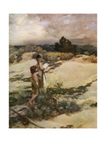 Hagar and Ishmael, 1880 Giclee Print by Jean-Charles Cazin