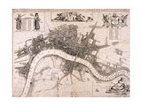 Map of London, C1680 Giclee Print by John Oliver