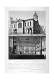 Church of St George the Martyr, Queen Street, Holborn, London, 1818 Giclee Print by John Coney
