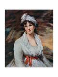Miss Anna Elizabeth Clements, 19th Century Giclee Print by John James Masquerier