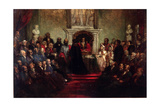 Presentation of the Freedom of the City to General Garibaldi, April 20 1864 Giclee Print by John Gilbert