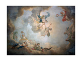 Ceiling of Marie Antoinette's Playroom, Chateau De Fontainbleau, C1763-1811 Giclee Print by Jean Simon Berthelemy