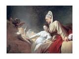 Education of the Virgin, C1773 Reproduction procédé giclée par Jean-Honore Fragonard