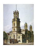 Church of St George in the East, Stepney, London, 1811 Giclee Print by John Coney