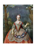 Madame De Beaujolais, 18th Century Giclee Print by Jean-Marc Nattier