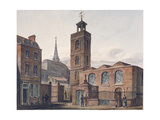 North View of the Church of St James, Duke's Place and Adjacent Buildings, City of London, 1810 Giclee Print by John Coney
