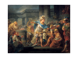 Alexander Cuts the Gordian Knot, Late 18th/Early 19th Century Giclée-tryk af Jean Simon Berthelemy