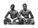 Two Men from Assinie, Guinea, C1860-1920 Giclee Print by Jean Andre Rixens