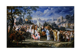 Entry of Alexander the Great into Babylon, 331 Bc, (18th Centur) Giclee Print by Johann Georg Platzer