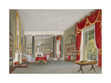 Interior View of the Library Drawing Room in Bromley Hill, Bromley, Kent, 1816 Giclee Print by John Buckler
