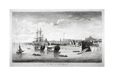 View of Boats on the River Thames Near Woolwich, Kent, 1750 Wydruk giclee autor John Boydell