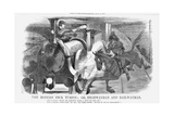The Modern Dick Turpin; Or, Highwayman and Railwayman, 1868 Giclee Print by John Tenniel