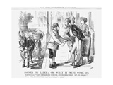 Sooner or Later; Or, What it Must Come To, 1867 Giclee Print by John Tenniel