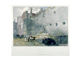 View of Tower Postern and London Wall with Men Digging, City of London, 1851 Giclee Print by John Wykeham Archer