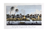 View of the Camp at the Java Creek, 1813 Giclee Print by John Gabriel Stedman