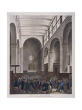 Stock Exchange, Bartholomew Lane, London, 1809 Giclee Print by Joseph Constantine Stadler