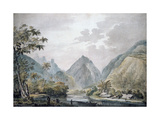 View of Vaitepiha Valley, Tahiti, 1777 Giclee Print by John Webber