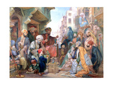 A Street in Cairo, Egypt, C1825-1876 Giclee Print by John Frederick Lewis