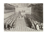 Coronation of William III in Westminster Abbey, London, 1689 Giclee Print by John Pine