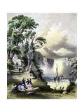 The Lake of Killarney with the Ruins of Innisfallen Abbey, Ireland, 19th Century Giclee Print by John Brandard