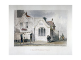 View of St Bartholomew's Chapel, Kingsland Road, Hackney, London, 1851 Giclee Print by John Wykeham Archer