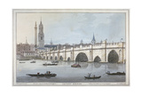 Old London Bridge, 1795 Giclee Print by Joseph Constantine Stadler