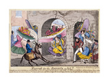 Hurrah for the Bonnets So Big!!, Temple Bar, London, 1828 Giclee Print by John Fairburn