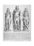 Mutilated Figures of the Mythical King Lud and His Two Sons Androgeus and Theomantius, 1795 Giclee Print by John Thomas Smith