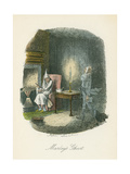 Scene from a Christmas Carol by Charles Dickens, 1843 Giclee Print by John Leech