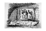 Inside of a Funeral Hut, Tahiti, 18th Century Giclee Print by John Webber