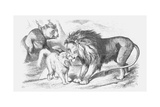 Feline Friends; Or, the British Lion and the Persian Chat!, 1873 Giclee Print by Joseph Swain