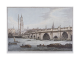 London Bridge, London, 1790 Giclee Print by Joseph Constantine Stadler