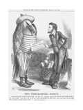 The Threatening Note, 1865 Giclee Print by John Tenniel