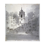 Church of St Giles Without Cripplegate from Fore Street, City of London, 1790 Giclee Print by John Claude Nattes