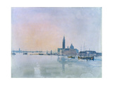 San Giorgio Maggiore from the Dogana, 1819 Giclée-tryk af J. M. W. Turner