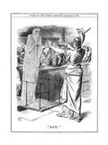 Britannia Holding Back Cholera at British Ports, 1892 Giclee Print by John Tenniel