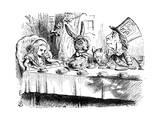 Scene from Alice's Adventures in Wonderland by Lewis Carroll, 1865 Giclée-Druck von John Tenniel