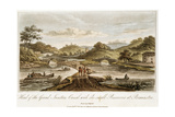 Grand Junction Canal, Braunston, Northamptonshire, 1819 Giclee Print by John Hassell
