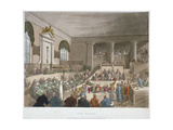 Interior View of the Sessions House, Old Bailey, with a Court in Session, City of London, 1809 Giclee Print by Joseph Constantine Stadler