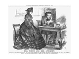 Mrs. North and Her Attorney, 1864 Giclee Print by John Tenniel