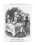 Pudding before Meat, 1866 Giclee Print by John Tenniel