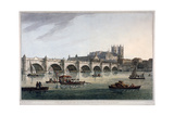 Westminster Bridge, Westminster Abbey and Westminster Hall, London, 1789 Giclee Print by Joseph Constantine Stadler