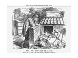 The Pig and the Peasant, 1863 Giclee Print by John Tenniel