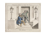 View of Two Drunken Revellers on the Steps of Crockford's Club, London, 1829 Giclee Print by John Phillips