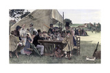 A Country Cricket Match, Sussex, 1878 Giclee Print by John Robertson Reid