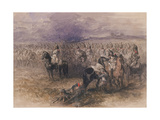 French Cavalry, 1851 Giclee Print by John Gilbert