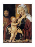 The Holy Family,' 16th Century Giclée-Druck von Joos Van Cleve