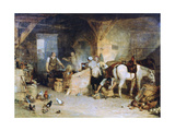 A Country Blacksmith Disputing Upon the Price of Iron..., C1807 Giclee Print by Joseph Mallord William Turner