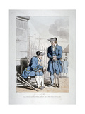 Greenwich Pensioners, 1808 Giclee Print by John Augustus Atkinson